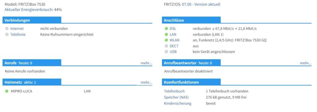 FTTC con Fritz!Box 7530 e Fastweb Cattur10