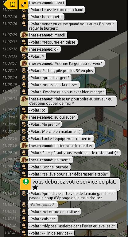 [Restaurant] Rapports d'Actions RP de -Polar. Rp1610