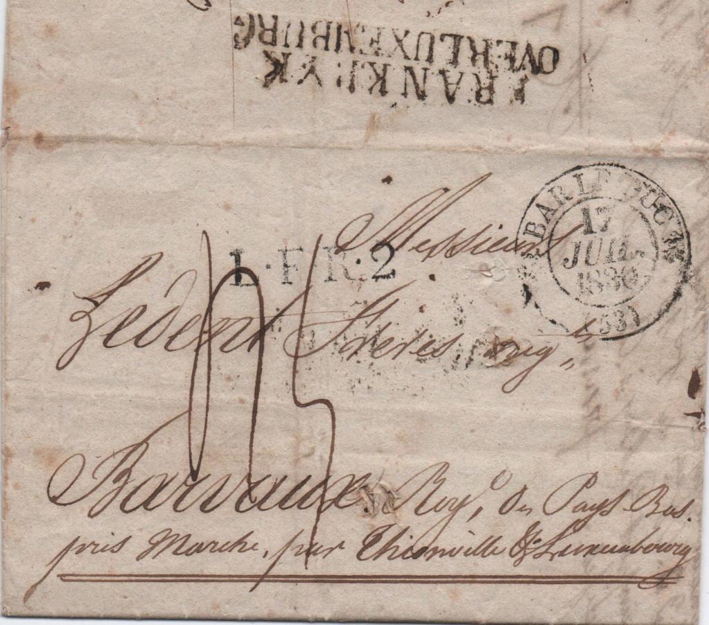 Tarif postal pour l'etranger (1833) 00216