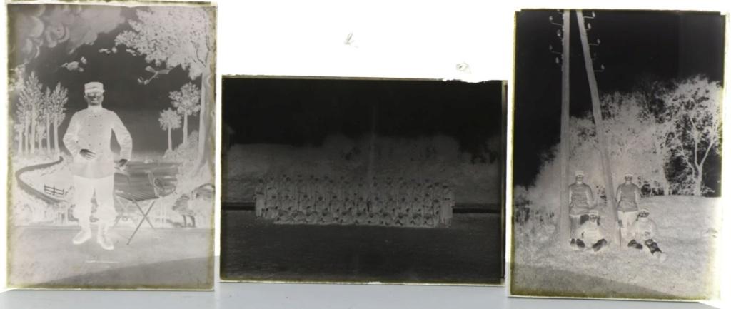 Soldats a identifier, plaques photographiques 1810