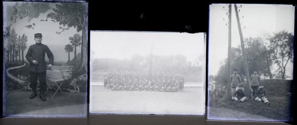 Soldats a identifier, plaques photographiques 1910