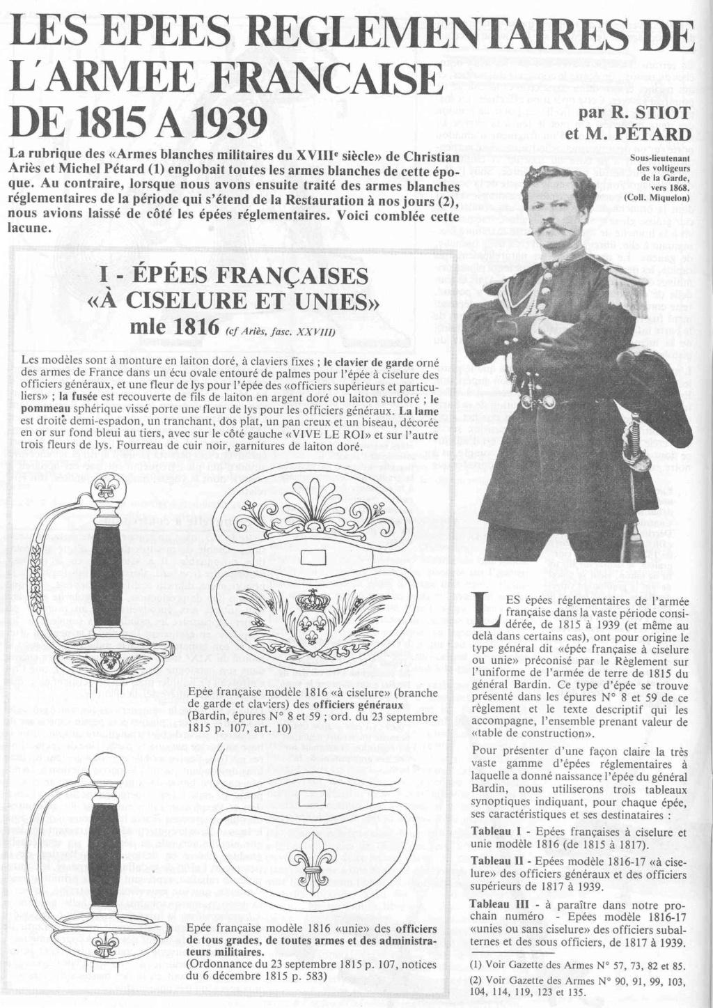 Epée Garde Impériale P1410