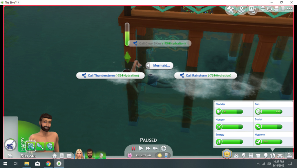 My sim won't turn into a Mermaid 110