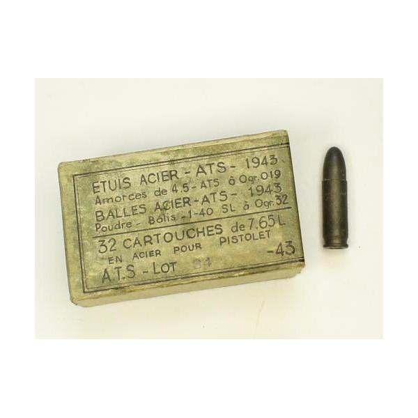 Cartouche 7.65mm allemande 7-65-l10
