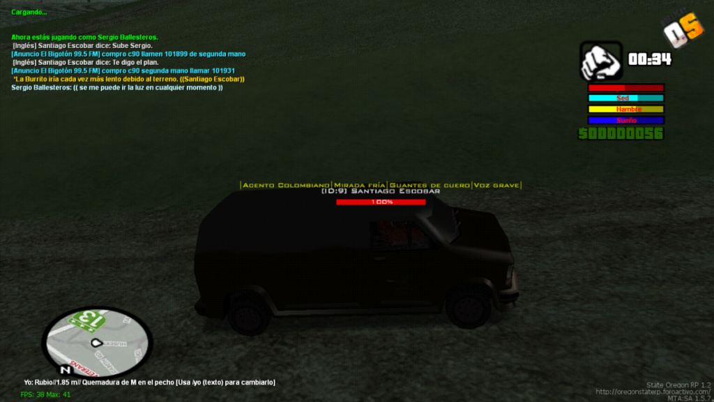 Secuestro De Camioneta De Mike Holland, comisario de HRPD(Cartel de medellin) Mta-sc26