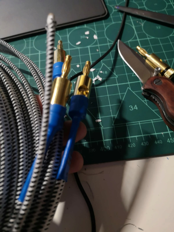 Cables caseros para altavoces Banana10