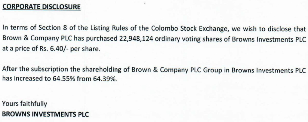 BROWNS INVESTMENTS PLC (BIL.N0000) - Page 41 Screen20
