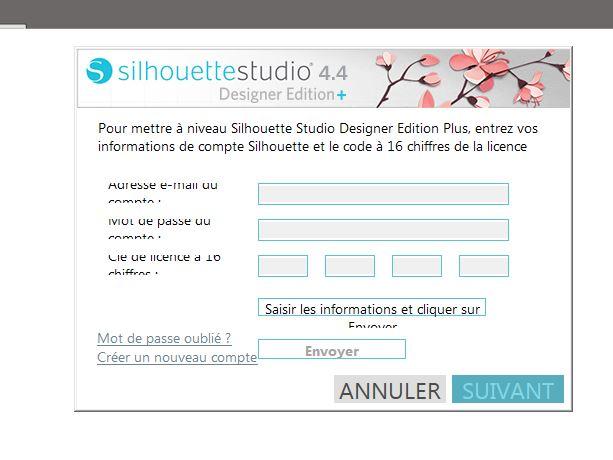 Problème concernant le logiciel Silhouette Studio Silhou10