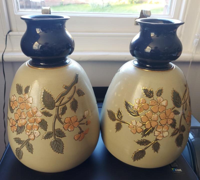 Unmarked vases - Lovatt, Langley Blossomware 20210414