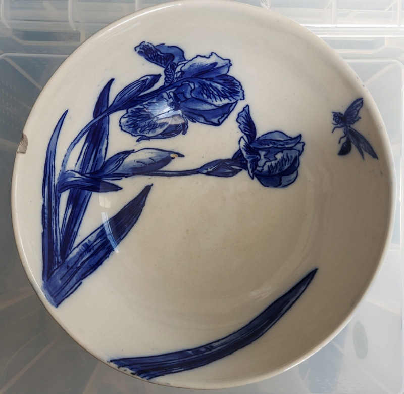 Hand painted bowl - Iris and wasp - Aesthetic? 20210416