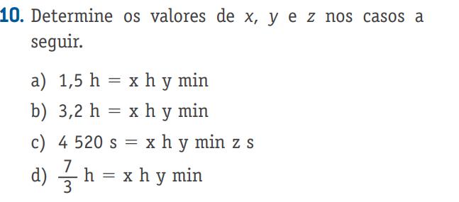 Determine os valores de x e y nos casos a seguir Captur10