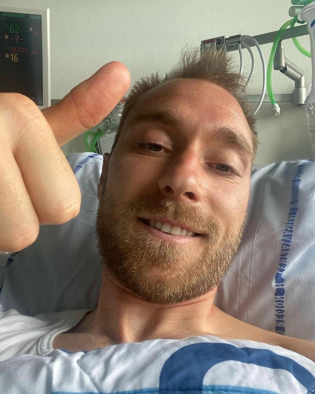 Eriksen: Messaggio di speranza dall'ospedale Erikse10