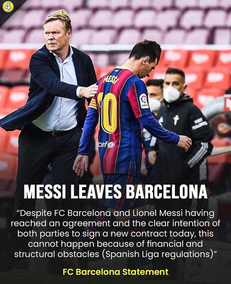 Messi lascia il Barcellona Messi110