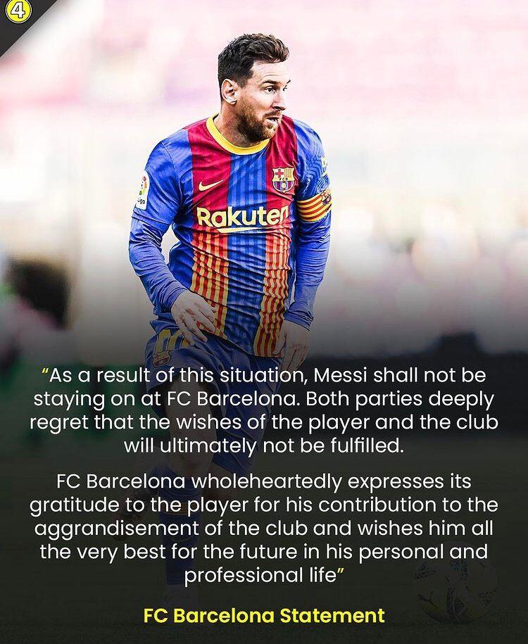 Messi lascia il Barcellona Messi210