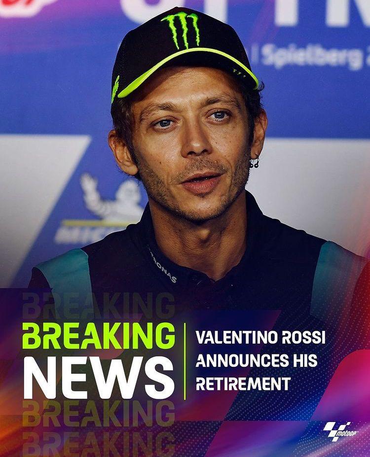 Valentino Rossi annuncia il ritiro Rossi10
