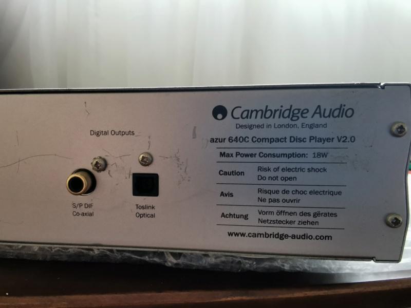 Cambridge Audio Azur 640C V2 CD Player  Img_2025
