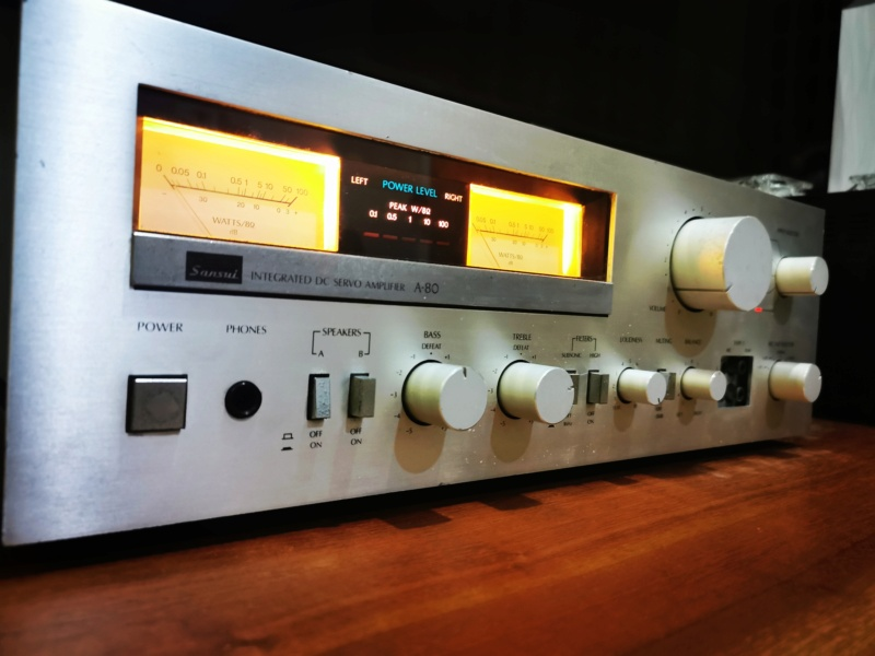 Sansui A80 Stereo Integrater Amplifier (Used)  Img_2027