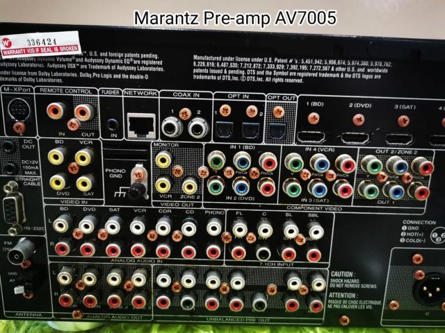 Marantz Pre-amp AV7005 (Used)  Img_2032