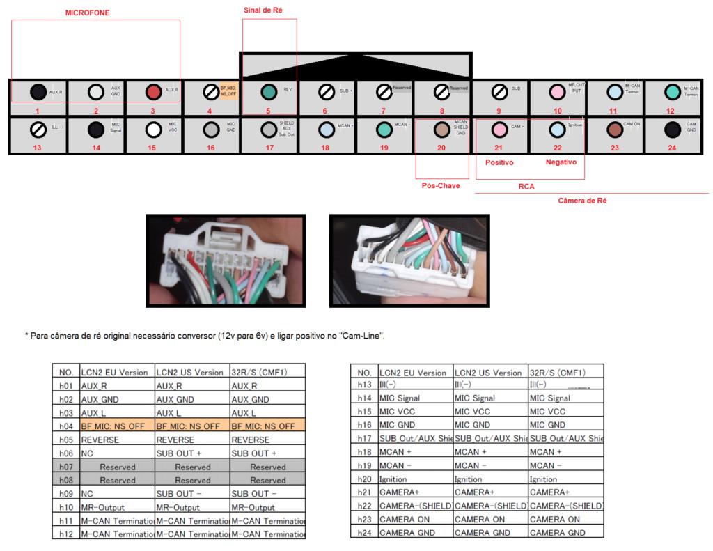 Ajuda com o chicote de ligação do Multimídia  Cabo_211