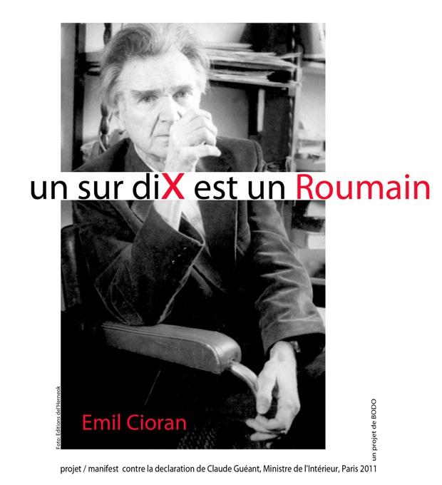 Paris - Paris : Les Roumains manifestent  Cioran11