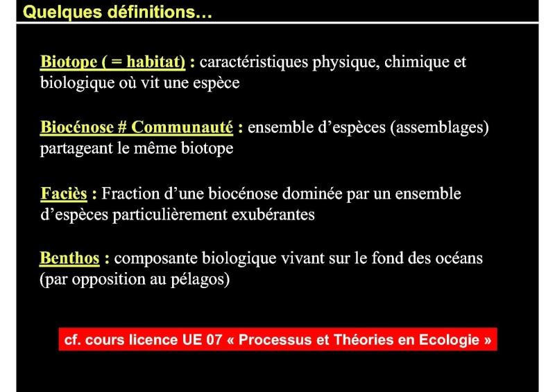 Structures et fonctionnement des écosystèmes benthiques  Cours_15
