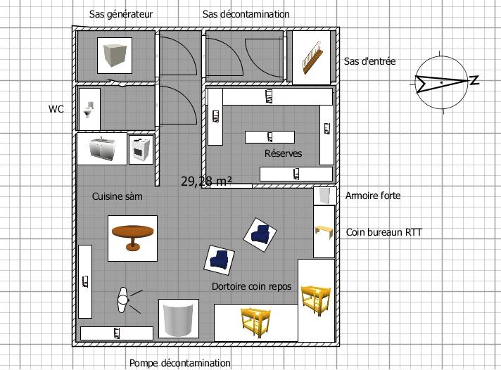 Caisson nbc home made Abri10