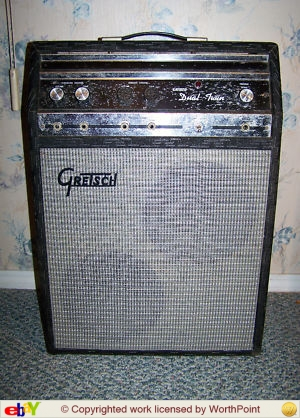 Valco Supro Gretsch Double Twin Tube Amp Amplificateur 6973 1_688f10