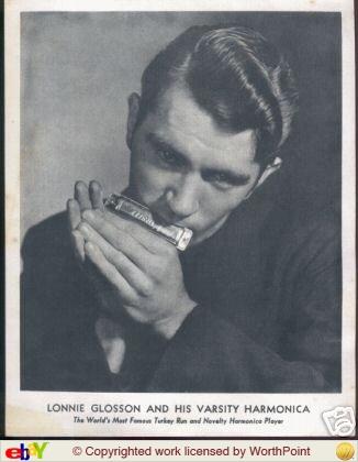 LONNIE GLOSSON ..... and his Gretsch varsity harmonica..... 1_ab6510