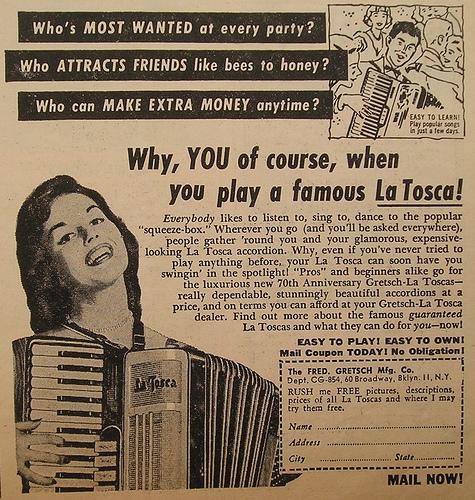 """Vintage Gretsch accordéon """"la tosca"""" 32375110"""
