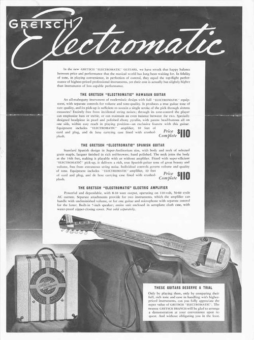 Gretsch Electromatic Lap Steel ... Cat_1911