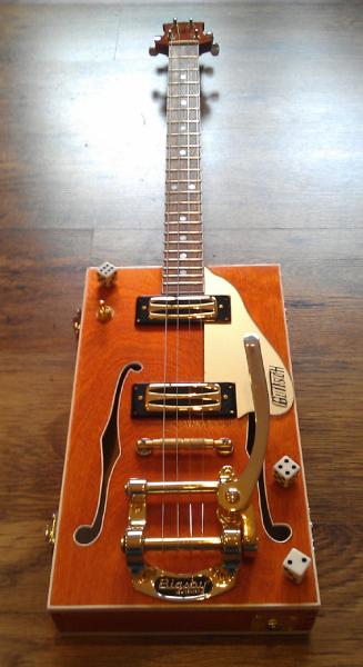 "boite a cigares 4 strings guitar style"" bo di glitsch "" G410"