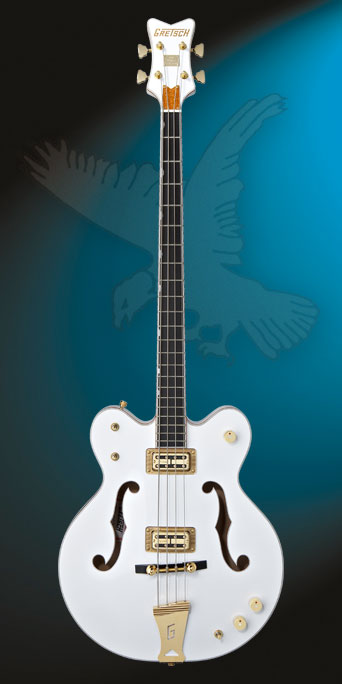 Gretsch G6136LSB White Falcon Bass Guitar  Blanc G6136l10