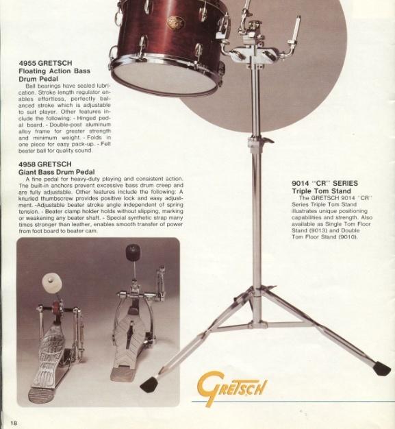 """Vintage Gretsch"""" PEDALS"""" Drum Giant_11"""