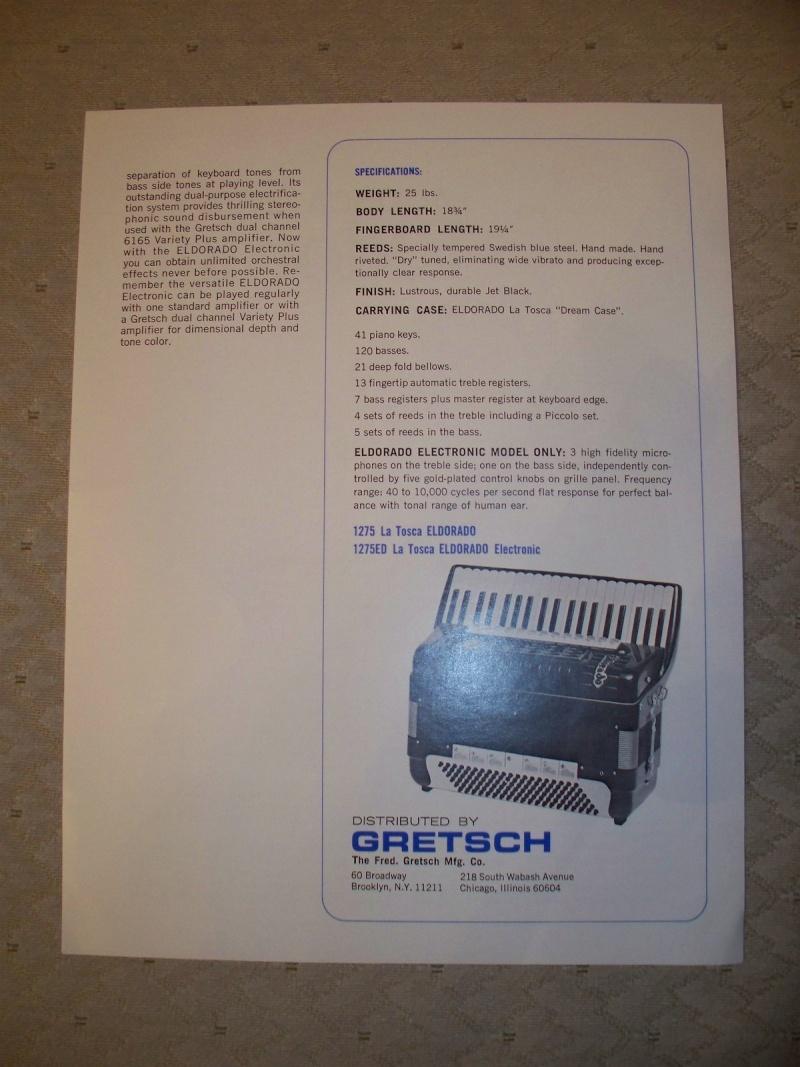 """Vintage Gretsch accordéon """"la tosca"""" Kgrhqf13"""