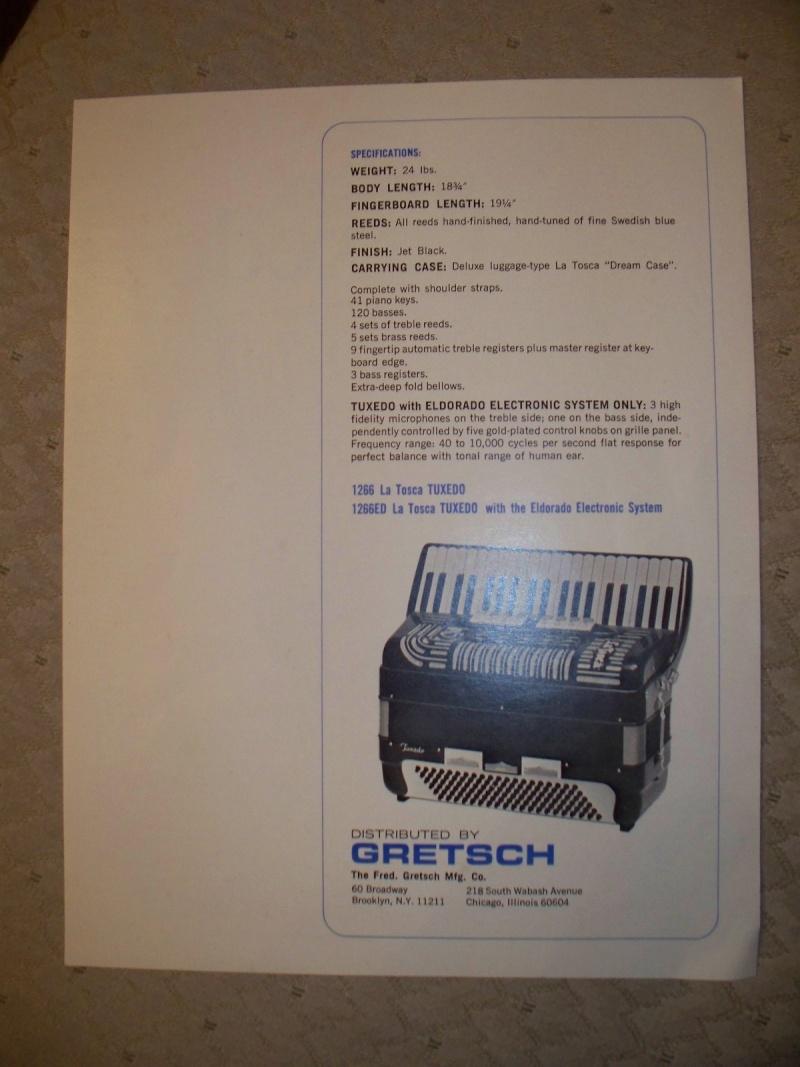 "Vintage Gretsch accordéon ""la tosca"" Kgrhqj15"