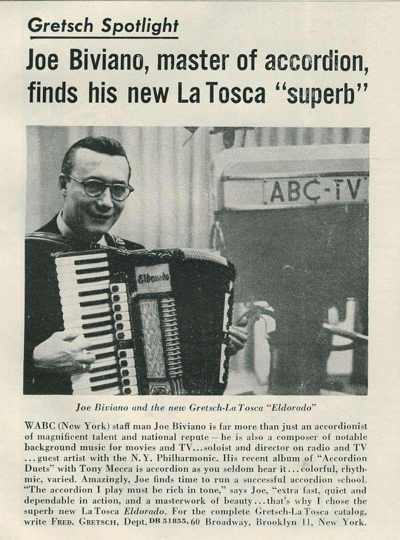 "Vintage Gretsch accordéon ""la tosca"" Kgrhqj19"