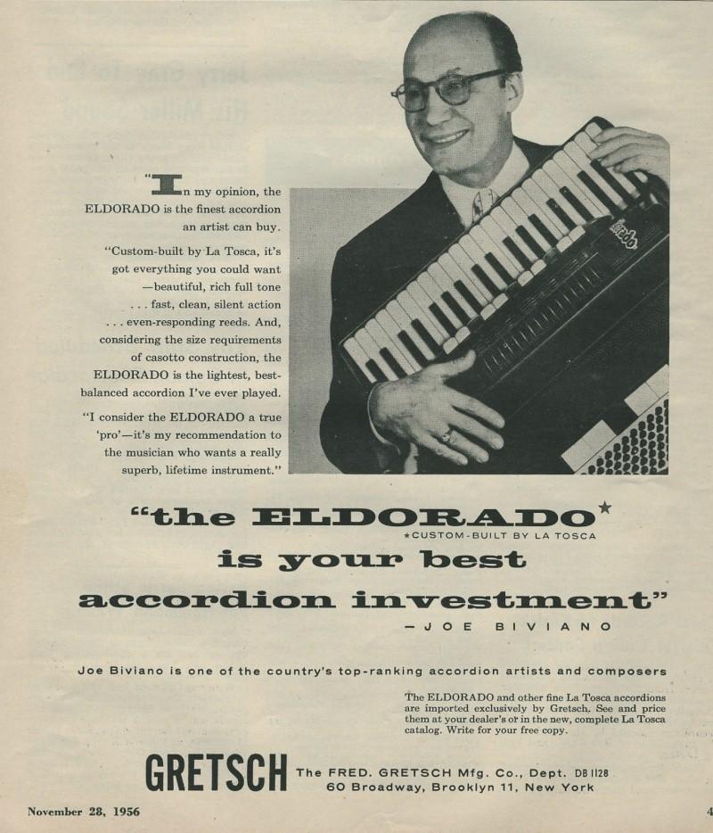 "Vintage Gretsch accordéon ""la tosca"" Kgrhqj35"