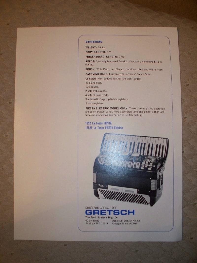 """Vintage Gretsch accordéon """"la tosca"""" Kgrhqr12"""