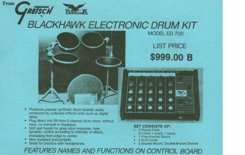 "1987.Blackhawk Gretsch"" electronic drum""  ED-700 /ED-200 Mmm10"