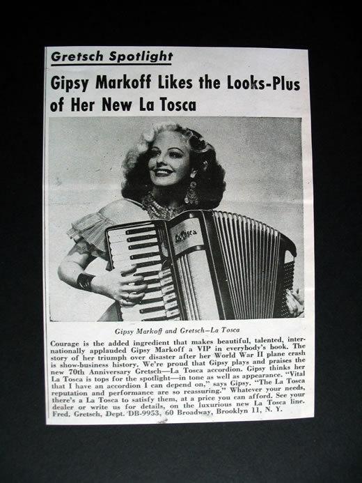 """Vintage Gretsch accordéon """"la tosca"""" T2ec1658"""