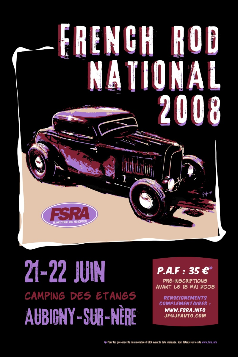 French Rod National 2008 Affich10