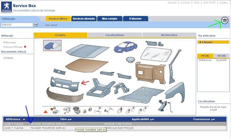Service box PSA : toutes les pièces de votre auto. Eclate10