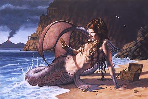 Créature aquatique. Sirene10