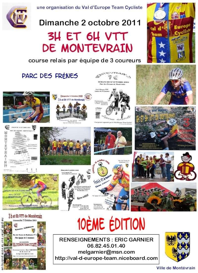 3 & 6 VTT de Montévrain(77) 10ème édition Dimanche 2/10/11   Affich15