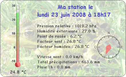 Observations du Lundi 23 Juin 2008 Repor123