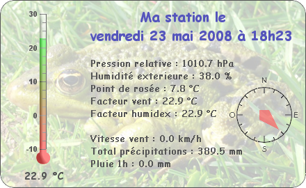 Observations du Vendredi 23 Mai 2008 Report87