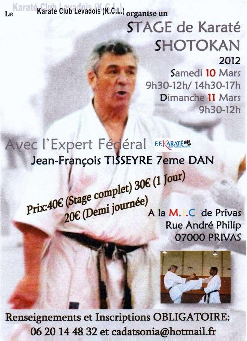 STAGE KARATE Jean-François TISSEYRE 10 et 11 Mars 2012 Affich14