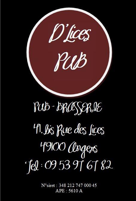 D'Lices Pub, 41 Bis rue des Lices à ANGERS 31087010