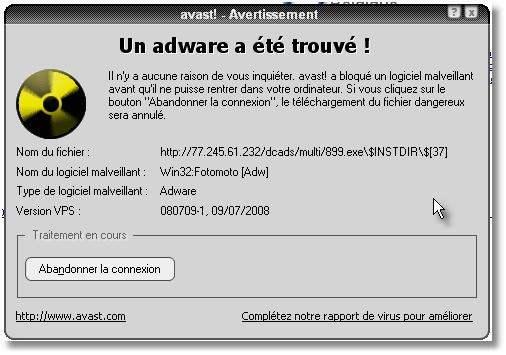Avast bloque une connexion Dcads .... Clip2110