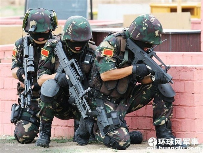 PLA Type 03 Special Forces DPM uniform Chine-24